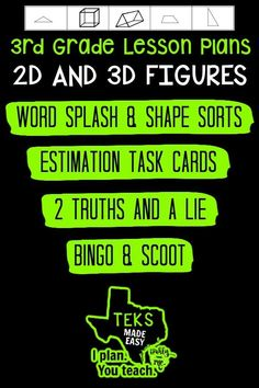 Spend less time prepping for your 3rd grade #math #lessonplans and more time teaching! Here is a priceless bundle that includes stations, games, activities, teacher tools and everything you need for 10 days of math lessons! #3rdgrade #classroom #school #3D #2D #mathgames #mathworksheets For more resources to simplify your teacher life, visit ipohlyinc.com! Math Lesson Plans, Math Lessons, 3rd Grade Math Worksheets, Learning Targets, 3d Figures, Student Data, Guided Math, Teaching Activities, Teacher Tools