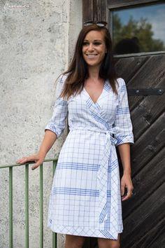 Kuchl Kouture Wickelkleid Palla Vienna Textiles, Vienna, Wrap Dress, Shirt Dress, Shirts, Dresses, Style, Fashion, Tejidos