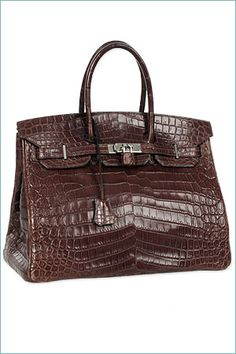 Ooohhh...a Birkin....brown croc...only in my dreams!