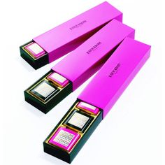 Fauchon Milk & Dark Chocolates Napolitains - Lovely intensity of that fuchsia. Minimal, very posh packaging. Impeccable concept.