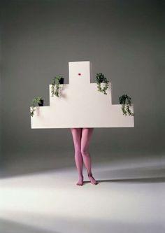 "Studio Alchimia piece for a performance at the Fiorucci showroom in Milan, ""Furnishings as Clothes"", 1982 Italian Colors, Salvador Dali Art, Vitra Design Museum, Milan Furniture, Design Movements, Gianfranco Ferre, Weird Fashion, Conceptual Design, Couple"