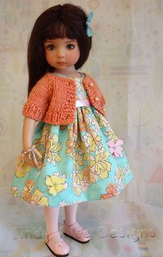 Flowers & Sunshine, an OOAK outfit for Dianna Effner's Little Darlings dolls.