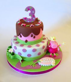 Cakes By Jacques - Beautiful Bespoke Cakes, Biscuits and Cupcakes: Peppa Pig Birthday Cake