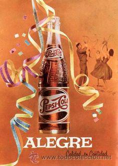 Página de publicidad Original *PEPSI-COLA. Alegre*  - Vintage- -- Año 1962