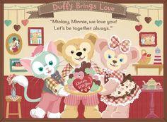 DIY Diamond painting Disney Duffy Bear & Friends Mosaic Cross Stitch Full Square/Round Drill D Bear Cartoon, Cartoon Icons, Cartoon Art, Disney Films, Disney Cartoons, Disney Parks, Walt Disney, Disney Characters, Kawaii Drawings