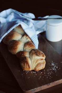 Homemade Challah - you make the dough in the bread machine, shape it by hand then bake it in the oven. A favorite!
