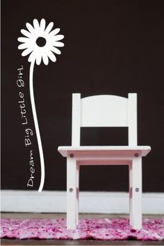 Cutest vinyl stencil words with flower decal.  So perfect for a little girl's room! From Quotethewalls.com. LOVE it!