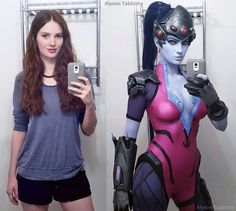 Widowmaker Cosplay Before ~ After by AlysonTabbitha.deviantart.com on @DeviantArt