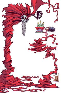 Spawn #250 variant cover by Skottie Young *