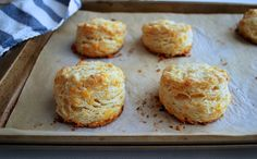 Oooh - these look like perfectly layered, tall biscuits: Garlic Cheddar Biscuits, a recipe on Food52