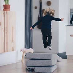 KK 4 fold from by KlipKlap. Multipurpose furniture in Danish design for both kids and adults. Photo credit: @alovelyjourney