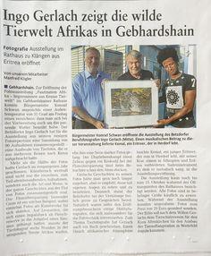Aktuelle Zeitungsberichte über meine Ausstellung...