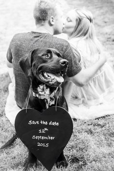 Save the date card with dog                                                                                                                                                      More