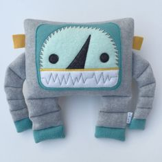Meet our Maker: Busy Bots  I have three boys and the things I make are inspired by them. I make plush robots and upcycled superhero capes for little boys as well as baby toys and some fun functional things too! busybot.etsy.com