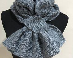 Loom Knit keyhole Scarf PATTERN loom knit Leaf by ThisMomentisGood