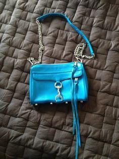 Rebecca Minkoff Turquoise Mini MAC #RebeccaMinkoff #MessengerCrossBody