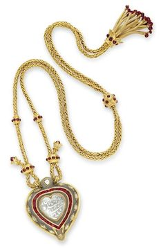 THE TAJ MAHAL AN INDIAN DIAMOND AND JADE PENDANT NECKLACE RUBY AND GOLD CHAIN, BY CARTIER  Sold for $8.8 million at the Elizabeth Taylor auction at Christie's.