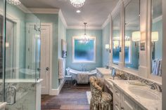 Paint Job     Out custom touch is makes every room a work of art.  Come tour our online portfolio —> #masterbath #bathroom #transitional