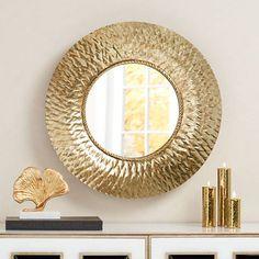 Almese Gold Diamond 24 Round Wall Mirror 8f437 Lamps Plus
