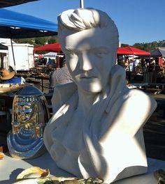 Bust of Elvis - spotted at the Rose Bowl Flea Market!