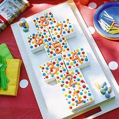 Polka Dot Hopscotch Cake