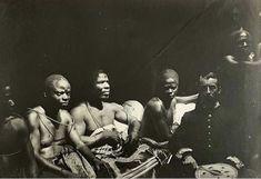 Edo chiefs and Captain Gallwey, Benin, Nigeria, 1892, gelatin silver print, photographer: J.H. Swainson