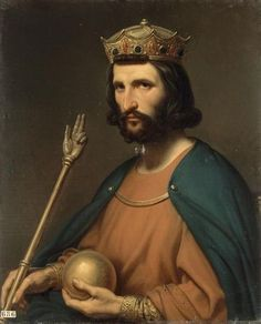 *Hugh Capet (939 - 996). Also known as Hugh the Great. King of the Franks from 987 to 996. He married Adelaide of Aquitaine and had three children. He is the founder of the Capetian dynasty, which ruler France from 987 to 1328. All other ruling houses of France have been cadet branches of the house of Capet.
