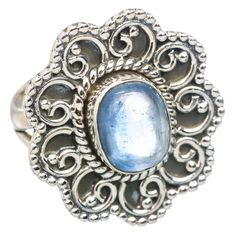 Rare Kyanite 925 Sterling Silver Ring Size 6.5 RING769362