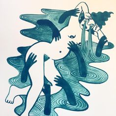 Sad gyal 💦 - - - - #illustration #wip #workinprogress #mentalhealth #gouache #painting #cry #woman #art #emotion #anxiety #depression… Abstract, Illustration, Woman Art, Artwork, Gouache Painting, Cry, Bass, Anxiety, Depression