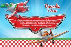 Convite digital personalizado Aviões da Disney 002