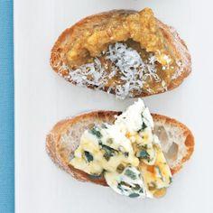 Blue Cheese and Honey Bruschetta