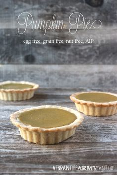 A delicious pumpkin pie with a buttery, flaky crust just the way you remember it but without the gluten, grains, eggs, or nuts | www.vibrantlifearmywife.com #AIP #paleo #glutenfree #eggfree #nutfree