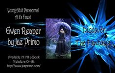 YOUNG ADULT PARANORMAL SALEPRICED! Only .99 Cents!  This novel is a must-read for fans of YA Paranormal! Jaz Primo has created an award-winning unique thrilling & adventurous novel that will hold you spellbound page after page.. Snap Gwen Reaper up today & discover the fantasy!  Gwen Reaper blurb:  What would you do if the mysterious girl on the outskirts of town has reason to be left alone?  Scott didnt want to move to Custer South Dakota.  But meeting Gwen changed that.  She drew him into…