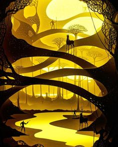 Amazing Illuminated Paper Cut Dioramas by Hari & Deepti.|FunPalStudio|Illustrations, Art, artwork, Artist, Entertainment, beautiful, creativity, Paper cut art.