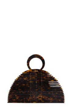 Shop Cult Gaia Neema Hand Bag In Brown Acrylic and save up to EXPRESS international shipping! Sierra Leone, Metal Buckles, Baggage, Gaia, Coral, Handle, Closure, Handbags, Brown