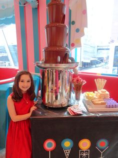 Great Big Chocolate Fountain. YUMMY!!!ModDesignGuru - Thinking-Outside-the-Box Design: PEACE, LOVE AND CUPCAKES BOOK SIGNING AT DYLAN'S CANDY BAR