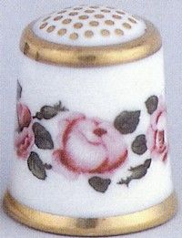 Royal Crown Derby Thimbles 1790- The Billingsley Roses