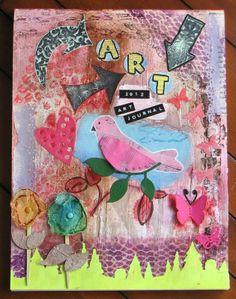 altered art journal cover