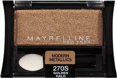 Maybelline New York Expert Wear Eyeshadow Singles Modern Metallics 270s Golden Halo 009 Ounce Pack of 2 -- Details can be found by clicking on the image.