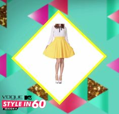 When wearing pleated skirts, ALWAYS tuck in your blouse to get a prim look and highlight your waist. Want to learn more style hacks? Watch Vogue Eyewear MTV #Stylein60: mtvindia.com/style