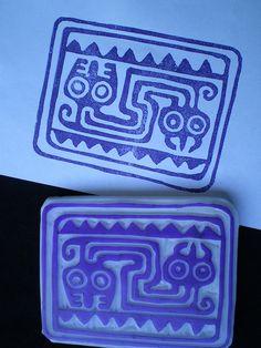 Serpent hand carved stamp   Flickr - Photo Sharing!