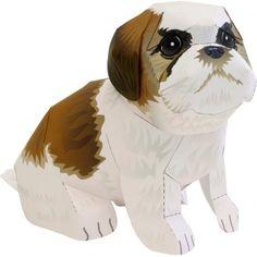 Shih Tzu,Animals,Paper Craft,Mammals ,Animals,dog,Paper Craft,Pet series,easy