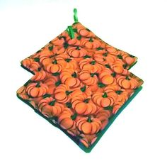 Pumpkin Potholders Kitchen Vegetables Set of 2 by sewinggranny
