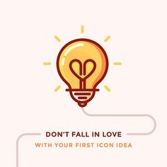 My new article on why you shouldn't fall in love with your first icon idea is live on Icon Utopia. Check it out! Link in the bio. #light #lightbulb #graphic #icondesign #iconography #iconaday #heart #love #graphic #design #art #vector #outline by iconutopia