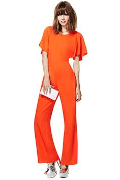 Mia Jumpsuit from Nasty Gal. LOVE the color. The sleeves and the back are excellent details as well. Digging the blunt bangs with it.