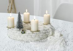 Yarn advent wreath