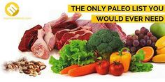 The Paleo diet plan foods that you eat are vital for your success on the Paleo diet. If you are not eating a diet plan that is high in protein and loaded with clean foods then you will never ever see the full results of consuming Paleo. Paleo Vegan Diet, Paleo Diet Food List, Paleo Meal Plan, Dieta Paleo, Diet Foods, Paleo Life, Gaps Diet, Scd Diet, Healthy Eating Tips