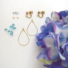 紫陽花の造花をつかったイヤリングです!梅雨にぴったり、ブライダルアクセサリーにも。... Diy Earrings, Teardrop Earrings, Handmade Accessories, Handmade Jewelry, Diy Belts, Shabby Chic Flowers, Filigree Design, Earring Tutorial, Bijoux Diy