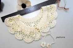 Crochet pattern, gift woman, crochet necklace, patterns, pdf pattern, collar, diy gift, peter pan collar, bridesmaid gift, collar necklace More collar : https://www.etsy.com/shop/NMNHANDMADE?section_id=12847809  ♥♥♥ Crochet collar pattern Please note, this listing is for the PATTERN ONLY, not for the finished item. The PDF file can be downloaded directly from Etsy immediately after purchase.  This pdf pattern contains step by step pictures detailed (50 pcs) photograph...