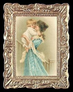"""A Mother's Love"" Dollhouse Art"